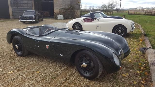 vintage wireman- classic car-jaguar-c type
