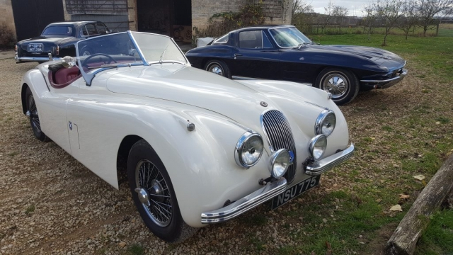 vintage wireman- classic car-jaguar-xk120